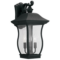 Designers Fountain Chelsea 3 Light Outdoor Wall Lantern in Black 2722-BK