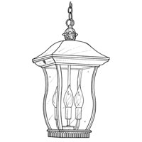 Designers Fountain Chelsea 3 Light Outdoor Hanging Lantern in Black 2724-BK