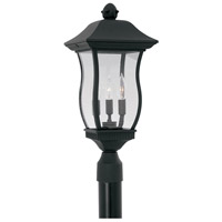 Designers Fountain Chelsea 3 Light Post Lantern in Black 2726-BK
