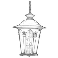 Designers Fountain Quintessence 4 Light Outdoor Hanging Lantern in Autumn Gold 2844-AG