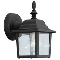 Designers Fountain Signature Cast Aluminum 1 Light Outdoor Wall Lantern in Black 2861-BK