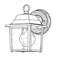 Designers Fountain Builder Cast Aluminum 1 Light Outdoor Wall Lantern in White 2861-WH photo thumbnail