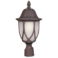 Capella 1 Light 19 inch Autumn Gold Outdoor Post Lantern