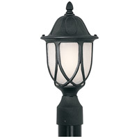 Capella 1 Light 19 inch Black Outdoor Post Lantern