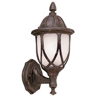Designers Fountain Capella 1 Light Outdoor Wall Lantern in Autumn Gold 2867-AG