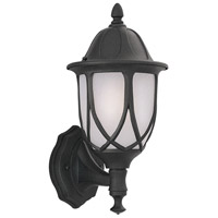 Designers Fountain Capella 1 Light Outdoor Wall Lantern in Black 2867-BK