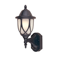Capella 1 Light 16 inch Black Outdoor Wall Lantern