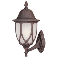 Designers Fountain Capella 1 Light Outdoor Wall Lantern in Autumn Gold 2868-AG
