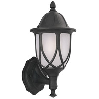 Designers Fountain Capella 1 Light Outdoor Wall Lantern in Black 2868-BK