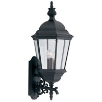 Designers Fountain Signature Cast Aluminum 3 Light Outdoor Wall Lantern in Black 2952-BK