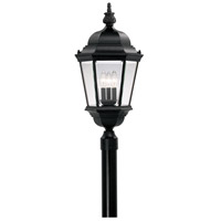 Builder 3 Light 28 inch Black Outdoor Post Lantern