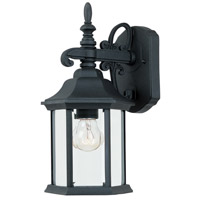 Designers Fountain Devonshire 1 Light Outdoor Wall Lantern in Black 2961-BK