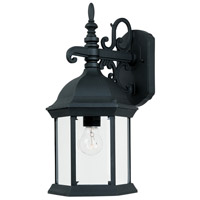 Designers Fountain Devonshire 1 Light Outdoor Wall Lantern in Black 2971-BK