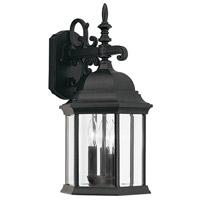Designers Fountain Devonshire 3 Light Outdoor Wall Lantern in Black 2981-BK