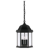 Designers Fountain Devonshire 3 Light Outdoor Hanging Lantern in Black 2984-BK