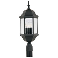 Designers Fountain 2986-BK Devonshire 3 Light 24 inch Black Outdoor Post Lantern
