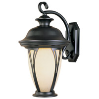 Westchester 1 Light 13 inch Bronze Outdoor Wall Lantern in Amber