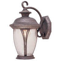 Westchester 1 Light 13 inch Rustic Silver Outdoor Wall Lantern in Seedy