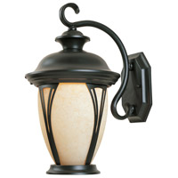 Westchester 2 Light 16 inch Bronze Outdoor Wall Lantern in Amber
