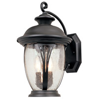 Westchester 2 Light 16 inch Bronze Outdoor Wall Lantern in Seedy