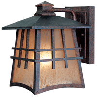 Designers Fountain Oak Park 1 Light Outdoor Wall Lantern in Mediterranean Patina 30701-MP