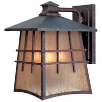 Oak Park 3 Light 13 inch Mediterranean Patina Outdoor Wall Lantern