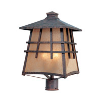 Designers Fountain Oak Park 4 Light Post Lantern in Mediterranean Patina 30726-MP