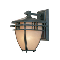 Designers Fountain Dayton 1 Light Outdoor Wall Lantern in Aged Bronze Patina 30811-ABP