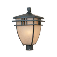 Dayton 3 Light 18 inch Aged Bronze Patina Outdoor Post Lantern