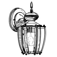 Designers Fountain Beveled Glass Lanterns 1 Light Outdoor Wall Lantern in Rust Patina 31071-RP