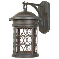 Designers Fountain Ellington 1 Light Outdoor Wall Lantern (Dark Sky) in Mediterranean Patina 31131-MP