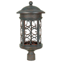 Ellington 1 Light 23 inch Mediterranean Patina Outdoor Post Lantern
