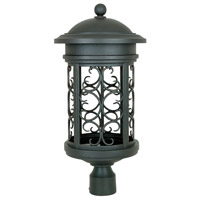 Designers Fountain Ellington 1 Light Post Lantern (Dark Sky) in Oil Rubbed Bronze 31136-ORB