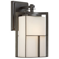 Designers Fountain Braxton 1 Light Outdoor Wall Lantern in Charcoal 31821-CHA