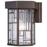 Designers Fountain Kingsley 1 Light Outdoor Wall Lantern in Aged Bronze Patina 32121-ABP