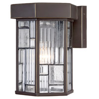 Designers Fountain Kingsley 1 Light Outdoor Wall Lantern in Aged Bronze Patina 32131-ABP