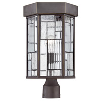 Kingsley 1 Light 17 inch Aged Bronze Patina Outdoor Post Lantern