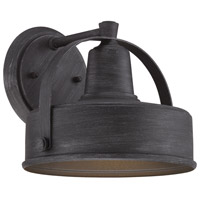 Portland 1 Light 8 inch Weathered Pewter Outdoor Wall Lantern