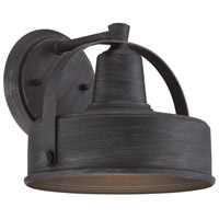 Portland 1 Light 10 inch Weathered Pewter Outdoor Wall Lantern