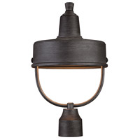 Portland 1 Light 18 inch Weathered Pewter Outdoor Post Lantern