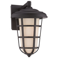 Designers Fountain Triton 1 Light Outdoor Wall Lantern in Aged Bronze Patina 33231-ABP