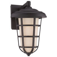 Designers Fountain 33241-ABP Triton 1 Light 17 inch Aged Bronze Patina Outdoor Wall Lantern