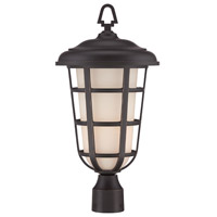 Designers Fountain Triton 1 Light Outdoor Post Lantern in Aged Bronze Patina 33246-ABP