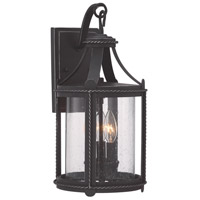 Palencia 3 Light 17 inch Artisan Pardo Wash Outdoor Wall Lantern