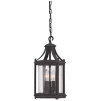 Designers Fountain Palencia 3 Light Outdoor Hanging Lantern in Artisan Pardo Wash 33634-APW
