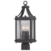 Palencia 3 Light 19 inch Artisan Pardo Wash Outdoor Post Lantern
