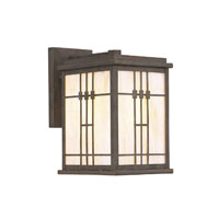 Designers Fountain Mission Style A 1 Light Outdoor Wall Lantern in Distressed Bronze 3432-DB photo thumbnail