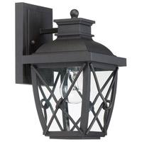 Designers Fountain 34821-BK Belmont 1 Light 10 inch Black Outdoor Wall Lantern