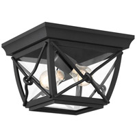 Designers Fountain 34835-BK Belmont 1 Light 10 inch Black Outdoor Flushmount