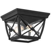 Designers Fountain 34835-BK Belmont 1 Light 10 inch Black Flushmount Ceiling Light